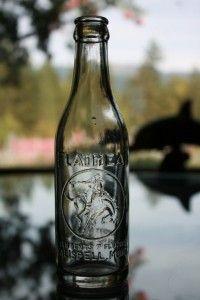 Antique Flathead Coca Cola Bottle Kalispell Montana Cowboy on Bucking