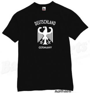 Deutschland Germany T Shirt Cool German Tee Pop BK M