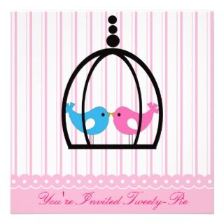 Pink Tweety pie Birthday Party Invitation