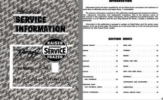 Kaiser 1951   Advance Service Information 1951 Models 513 & 514 Kaiser