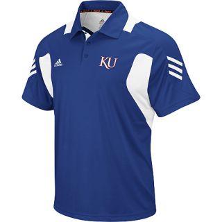 Kansas Jayhawks Royal Adidas Sideline Scorch Polo Golf Shirt Sz Large