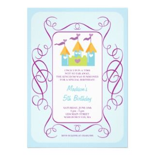 Rapunzels Castle Birthday Invitation