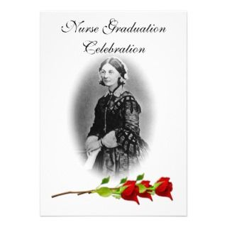 Nurse Graduation Celebration Florence Nightingale Invites