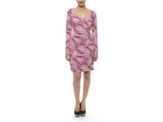 kamalikulture♥ Long Sleeved Sweetheart Dress Red Small Leopard $