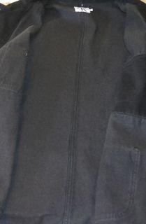 Calvin Klein Jeans Black Button Down Cotton Denim Jean Jacket Coat