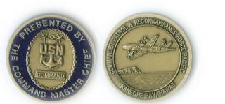 USN Command Master Chief Kaneohe Bay Hawall Challenge Coin