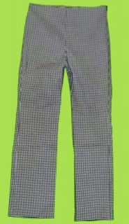 Karen Kane Sz 10 Womens Black White Checkered Stretch Pants Slacks