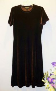 Karen Kane Womens Brown Velvet Dress Size M Medium