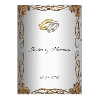 Art Deco Classic Wedding Invitation