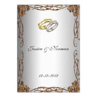 Art Deco Classic Wedding Invitation