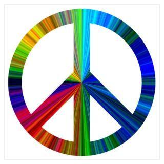 Wall Art  Posters  Peace Sign (Rainbow) Wall Art