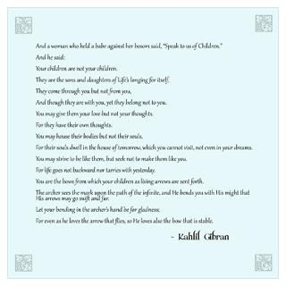 Kahlil Gibran Quote Wall Art for $23.00
