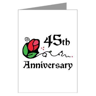 45th Wedding Anniversary Greeting Card by thepixelgarden