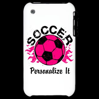 Hot Pink Soccer Flames Gifts  Hot Pink Soccer Flames iPhone Cases