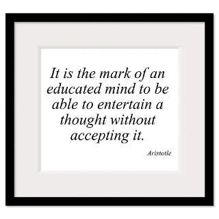 Aristotle quote 46 Wall Art Framed Print