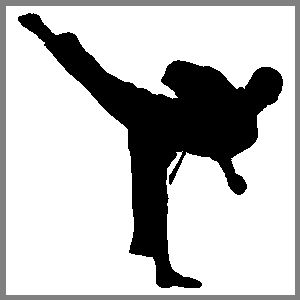 Karate Martial Arts Sports Figure 08 Stickers Decals