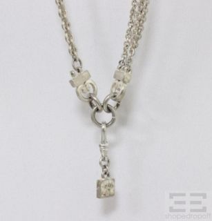 Karl Lagerfeld Silver Tone Chainlink Necklace