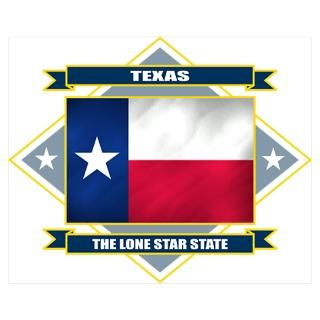 Wall Art  Posters  Texas Flag Poster