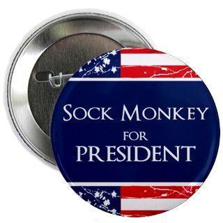 Sock Monkey For President Gifts & Merchandise  Sock Monkey For