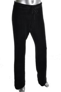 Karen Kane New Black Velour Drawstring Waist Flare Lounge Pants M BHFO