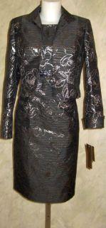 Kasper 2pc Eternal City Nights Jacket Dress Suit Sz 16 $199