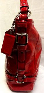 Genuine Katarina Chelsea Paprika Patent Leather Bag 18959 MSRP$378 00