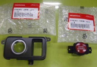 Honda Civic Type R FD2 JDM Start Button Switch Kit 35885 SNW J01 35886