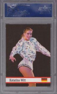 1993 Fax Pax Katarina Witt Signed Figure Skating Card PSA DNA Slabbed