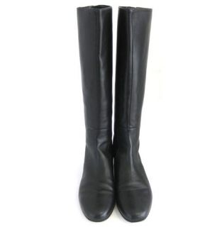Kate Spade Orna Black Leather Flat Riding Boots NWB