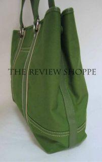 Kae Landry Canvas oe Bag Purse XL Grass Green $79