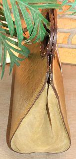 Kate Landry Tall Green Crocodile Embossed Leather Satchel Tote Handbag