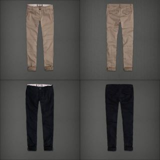 Authentic Abercrombie Fitch Women The A F Jegging Pants Khaki Navy $68
