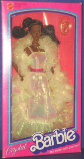 Crystal Barbie Black Doll MIB 1984 Mattel