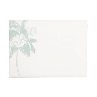 Tropical Palm Tree Wedding Invitation Envelope