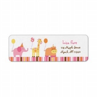 Sweet Safari Jungle Animal Address Labels