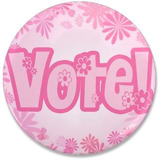 larger pink vote 3 5 button $ 5 00 qty availability product number