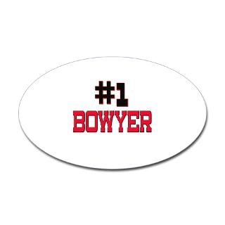 Number 1 BOWYER Oval Decal for $4.25