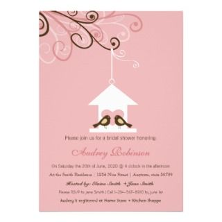 Bird House Bridal Shower Custom Invitation