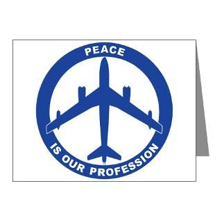 Air Force Note Cards  B 47 Peace Sign Note Cards (Pk of 10