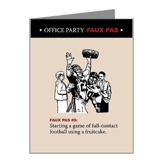 Office Party Faux Pas Greeting Cards No. 9  Funny Christmas Cards