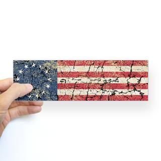 13 Colonies US Flag Distresse Bumper Sticker
