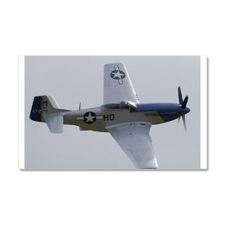 Air Force Gifts  Air Force Wall Decals  P 51 Mustang 22x14 Wall