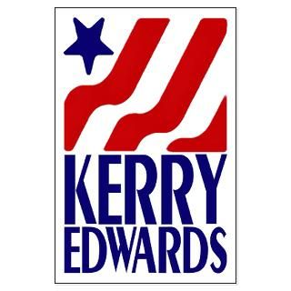 Kerry Edwards 2004  Irregular Liberal Bumper Stickers n Pins