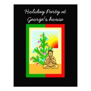 Christmas Buddha w/Tree Custom Invitations