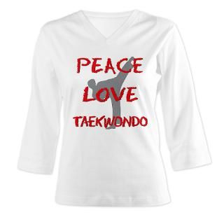 Peace Love Taekwondo Shirts  Expressive Mind