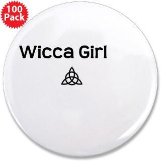 Gifts  Buttons  Wicca Girl 3.5 Button (100 pack)