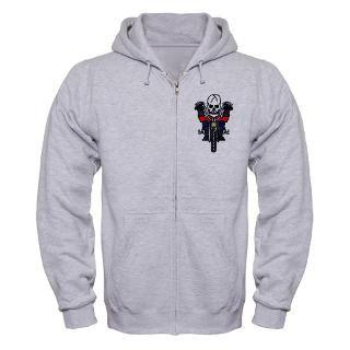 motorcycle biker skull tattoo zip hoodie $ 47 99