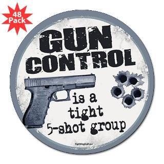 Gun Control 3 Lapel Sticker (48 pk)
