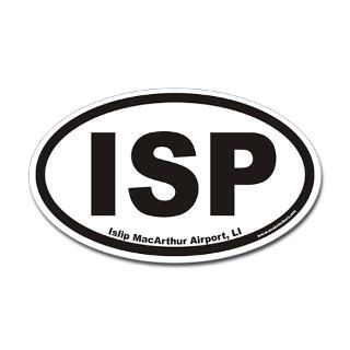 islip macarthur airport isp euro oval sticker $ 4 49