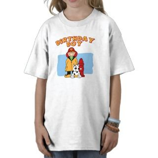 Firefighter Birthday Boy Tee Shirts